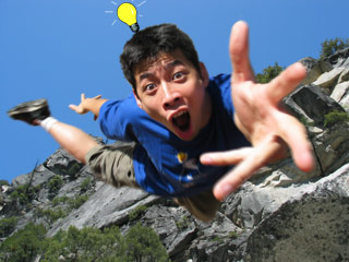 Eric Conveys:  Getting a great idea... while falling to your doom