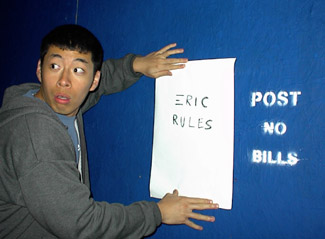 Eric Conveys: Posting bills